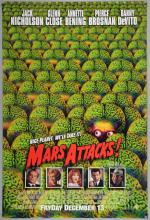 Mars Attacks! (1996) British Quad film poster & One Sheet film poster, directed by Tim Burton, Warner Brothers, folded & rolled (2)