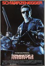 Terminator 2: Judgment Day (1992) One sheet film poster, starring Arnold Schwarzenegger, Tri-Star, rolled, 27 x 40 inches