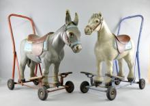 Two Tri-ang ride on push along child's toys,