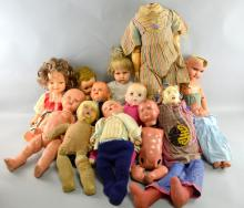 Pedigree doll and an ideal toy incorporation doll, quantity of other dolls including cloth bodied dolls,