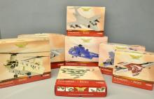 Corgi Aviation Archive Thunder In the Skies 7 assorted models including Hunter and Westland Sea King helicopter - all boxed