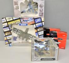 Five Gaincorp Precision die-cast models, a Franklin Mint Armour Collection model aeroplane and 4 Corgi models (10 in total)