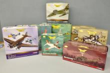Corgi Aviation Archive 3 US Modern Warfare aeroplane models, 2 Nose Art Collection aeroplane models, and 3 other die cast models - all boxed (8 in total)
