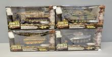 Forces of Valor - German tanks X 4 including German Jagdpanther and German Tiger - boxed,