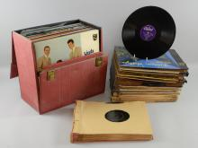 100+ 78 rpm records & Vinyl LPs including Kathy Lloyd, Pat Boone, Bill Haley, Richard Crooks, Tony Martin & others, (100+)