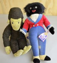 Merry Thought Gollywogg Doll and  stuffed Gorilla