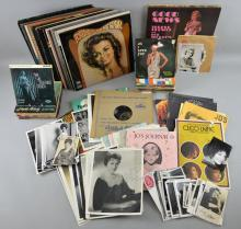 Vintage Pop memorabilia of Shirley Bassey, Cleo Laine, Teresa Brewer, Kay Starr & Jo Stafford including signed photographs / postcards, photographs (some backstage), Vinyl LPs, 45 rpm singles, fan club items & other items (qty)