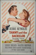Tammy and The Bachelor (1957) One Sheet film poster, starring Debbie Reynolds, Universal International, folded, 27 x 41 inches
