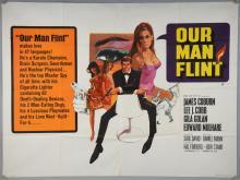 Our Man Flint (1966) British Quad film poster, starring James Coburn, Lee J. Cobb, with artwork by Bob Peak, 20th Century Fox, folded, 30 x 40 inches