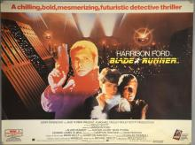 Blade Runner (1982) British Quad film poster, artwork by John Alvin, Sci-fi starring Harrison Ford & Rutger Hauer, Warner Bros., folded, 30 x 40 inches
