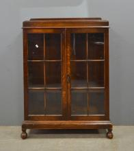 Early 20th century oak and glazed bookca
