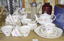 Royal Doulton Rosell pattern part tea se
