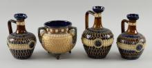 Doulton Lambeth pair of jugs 16cm, anoth