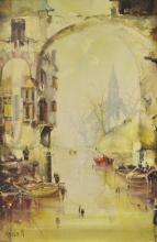 Jorge Aguilar Agon (b.1936) - 'Town Wate