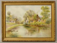 Bryan Cox - Rural Landscape, enamels on