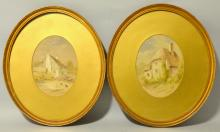 Pair of 19th century watercolours of cot
