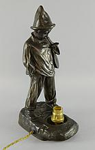 Art Deco figural table lamp in the form of a young boy