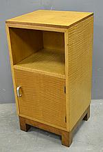 Heals  Art Deco sycamore and rosewood  bedside cabinet. 69cm by 36cm