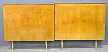 Pair of Heals Art Deco sycamore   single bed ends 84cm by 91cm