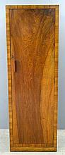 Heals Art Deco single wardrobe.in walnut, ivorine label 168cm by 56cm