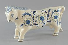 Arnold Machin for Wedgwood Ferdinand the Bull.  designed in 1941 unmarked, 16.5 x 30 cm