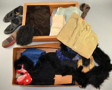 Blackface / Minstrel Theatre costumes from the early 20th century, both boxed including shoes, trousers, wigs & other accessories