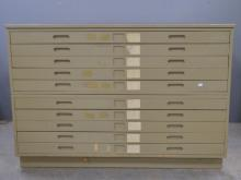 Plan chest of 10 drawers