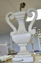 White painted lamp