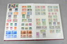 Great Britain and Commonwealth all periods in red stockbook ,  32 sides