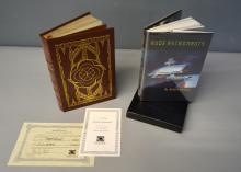 Alan Steele. Coyote Frontier. A limited edition no. 317/900 (2005), signed by the author and containing certificate of authenticity. Bound in full leather.And Alan Steele, Rude Astronauts, first edition (Maryland, 1993). A limited U.S. edition no. 21/100, in slip case.
