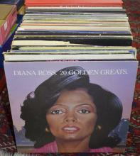 Collection of vinyl records to include Diana Ross 20 Golden Greats