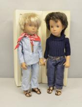 Sasha Dolls Gregor dark Denims 4-301, Gregor Fair Blue Suit 302 both boxed