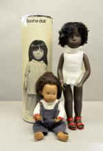 Sasha doll Cora  4-109 boxed and a baby doll un boxed