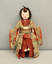 Circa 1900 European doll in the Japanese manner in original dress