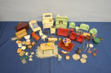 Collection of dolls house furniture and accessories, first half of 20th century,