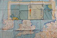 German World war II map and silk map