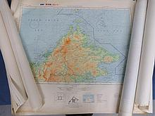 Approximately  120 USA WWII maps of the Pacific Theater