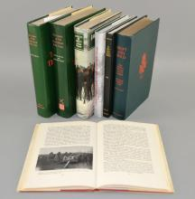 Collection of books on the Kings Royal Green Jackets Swift and Bold - published 1949, The annals of the kings rifle corps Volumes VI and VII by Giles Mills (one signed by the author) and four others