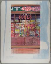 Glynn Boyd Harte, 'Tools' and 'Arthur Page Books' verso, overprint, 71.5cm x 57cm,