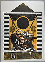 Kenneth Rowell, 1920-1999, 'Ceremony', signed, lithograph, 'Curwen Studio Proof' stamp verso, 80cm x 57.5cm,