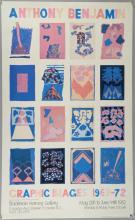 Anthony Benjamin, Blackman Harvey Gallery Poster 1982, 80.5cm x 49.5cm,