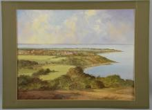 A print of 'Bembridge School From Culver' by Cavendish Marton, 1986, in mount unframed, 39cm x 53cm (3)