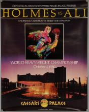 Boxing - Five posters including Holmes Vs Ali 1980, Holmes Vs Cooney 1982, Hearns Vs Green 1983, Hearns Vs Duran 1984, Holmes Vs Coetzee 1984, all fought at Caesars Palace, rolled, 22 x 28 inches (5)