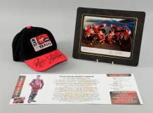 British Superbike, Virgin Team Yamaha cap signed by Steve Hislop & Rob McElnea & a colour team photo signed by Steve Hislop & Paul Brown (2)The vendor has had senior roles at top telecommunication leaders for over 20 years and was Vice President of Samsung UK & Ireland for a number of years. During his working career he had access to many individuals in the music, movie & sporting industry through events, functions and friendships he made during his time in the industry.