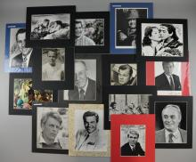 Autographs - Actors, 15 signed mounted photographs including Bob Hope, Joseph Cotton, Mickey Rooney, Peter O'Toole, Edward Fox, John Gielgud & others (15)