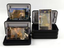 Star Wars Trilogy - Eight limited edition 24K gold collectibles card sets, boxed (8).