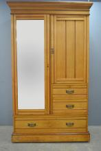 Maple & Co late Victorian mirrored pine