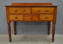 Mahogany five drawer desk