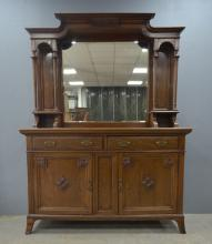 Early 20th century mirrored sideboard