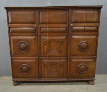 Early 20th century oak side cabinet